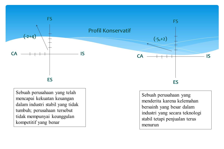 Profil Konservatif FS FS (-2+4) (-5,+2) CA IS CA IS ES ES