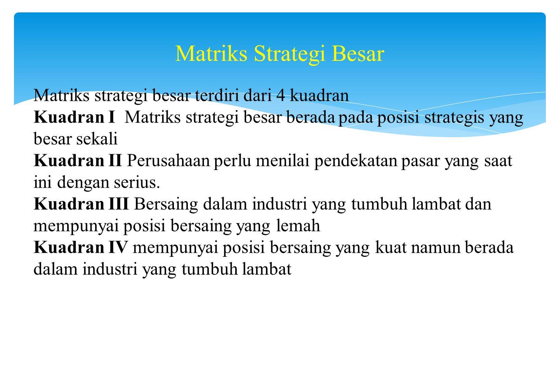 Matriks Strategi Besar