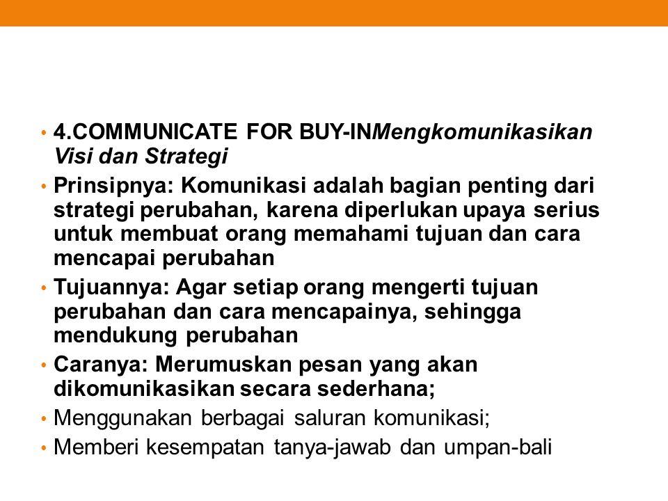 4.COMMUNICATE FOR BUY-INMengkomunikasikan Visi dan Strategi