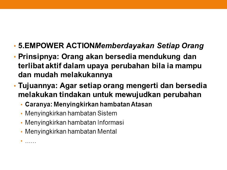 5.EMPOWER ACTIONMemberdayakan Setiap Orang