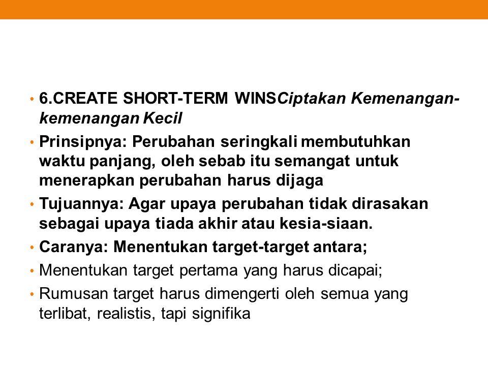 6.CREATE SHORT-TERM WINSCiptakan Kemenangan-kemenangan Kecil