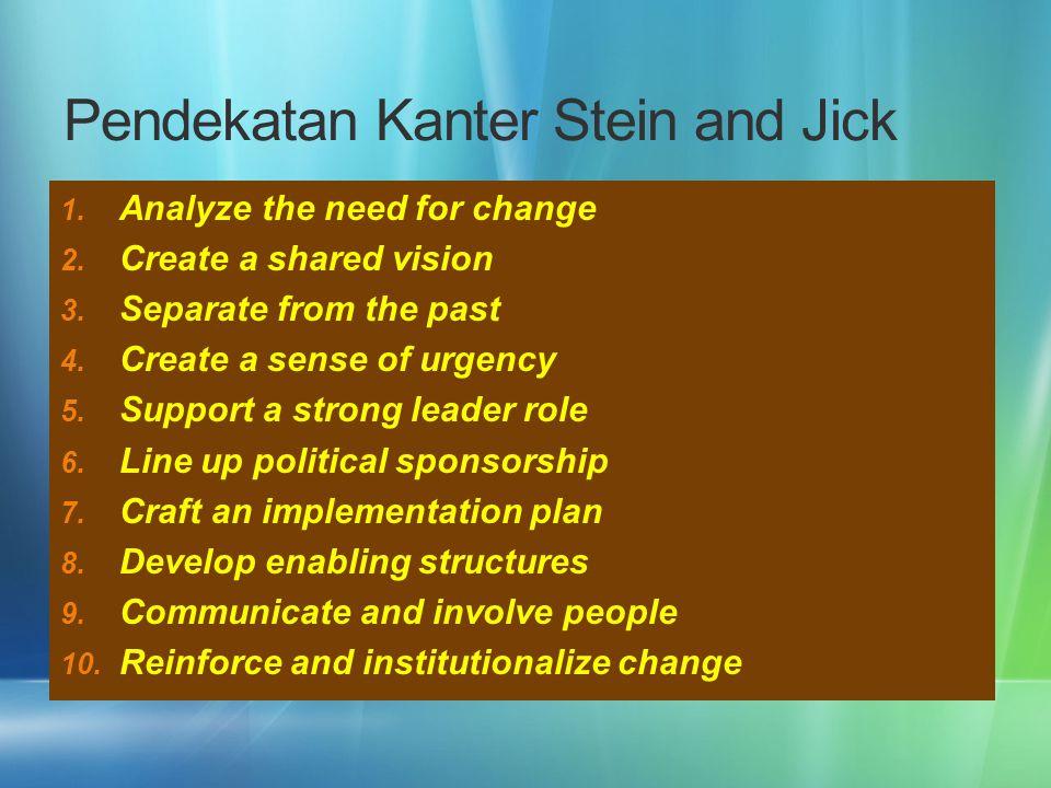 Pendekatan Kanter Stein and Jick