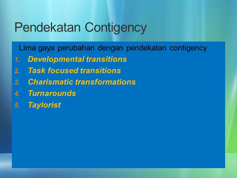 Pendekatan Contigency