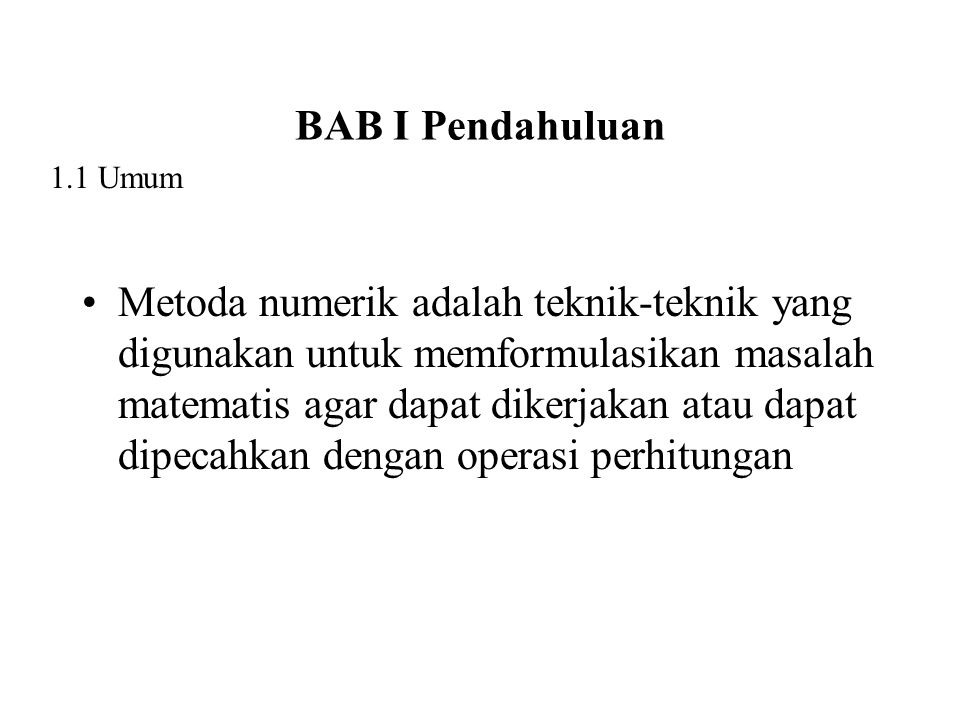 BAB I Pendahuluan 1.1 Umum.