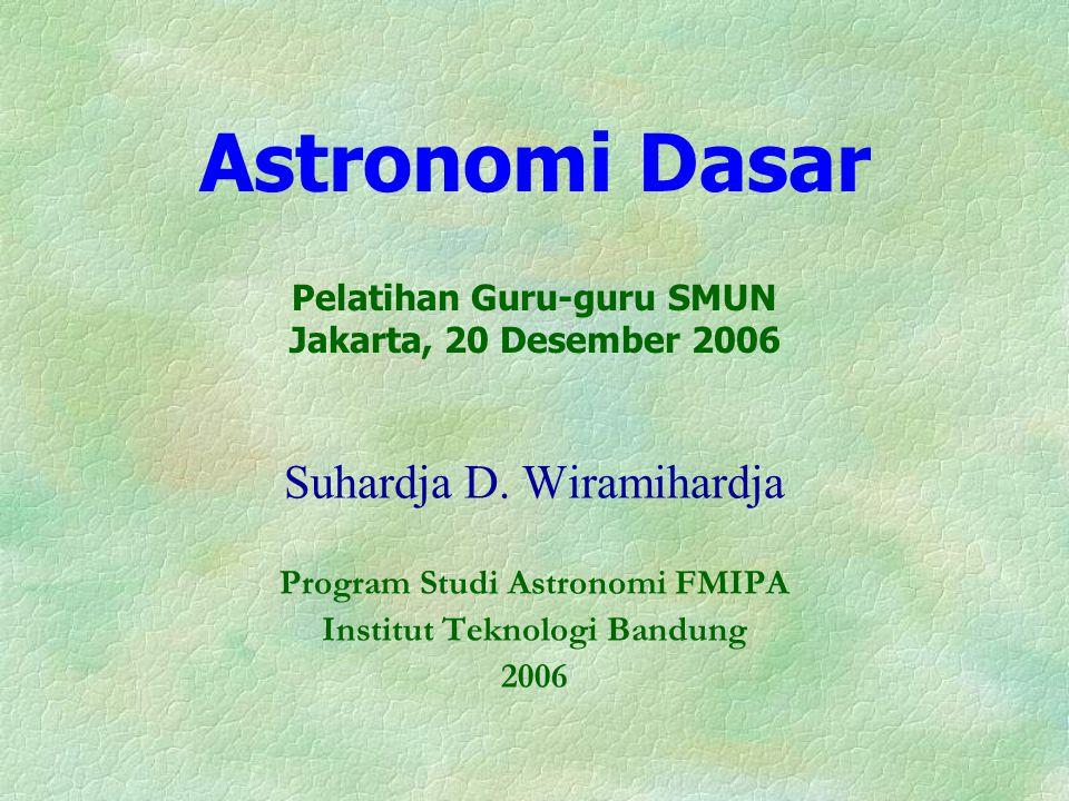 Astronomi Dasar Pelatihan Guru-guru SMUN Jakarta, 20 Desember 2006