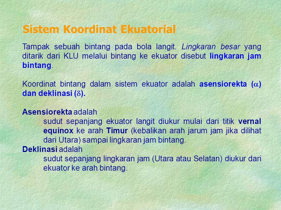 Sistem Koordinat Ekuatorial