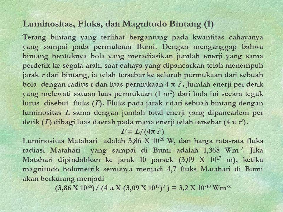 Luminositas, Fluks, dan Magnitudo Bintang (1)
