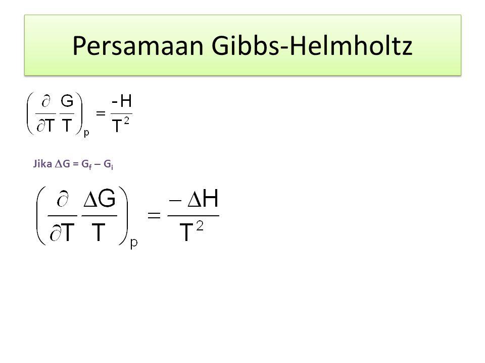 Persamaan Gibbs-Helmholtz