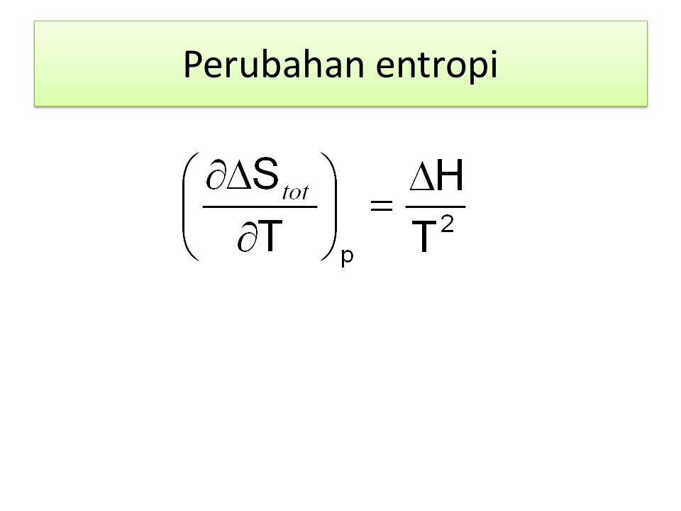 Perubahan entropi