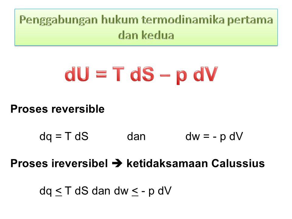 Penggabungan hukum termodinamika pertama dan kedua