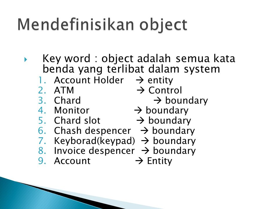 Mendefinisikan object