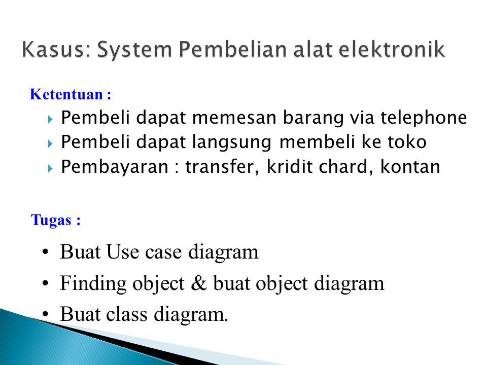 Kasus: System Pembelian alat elektronik