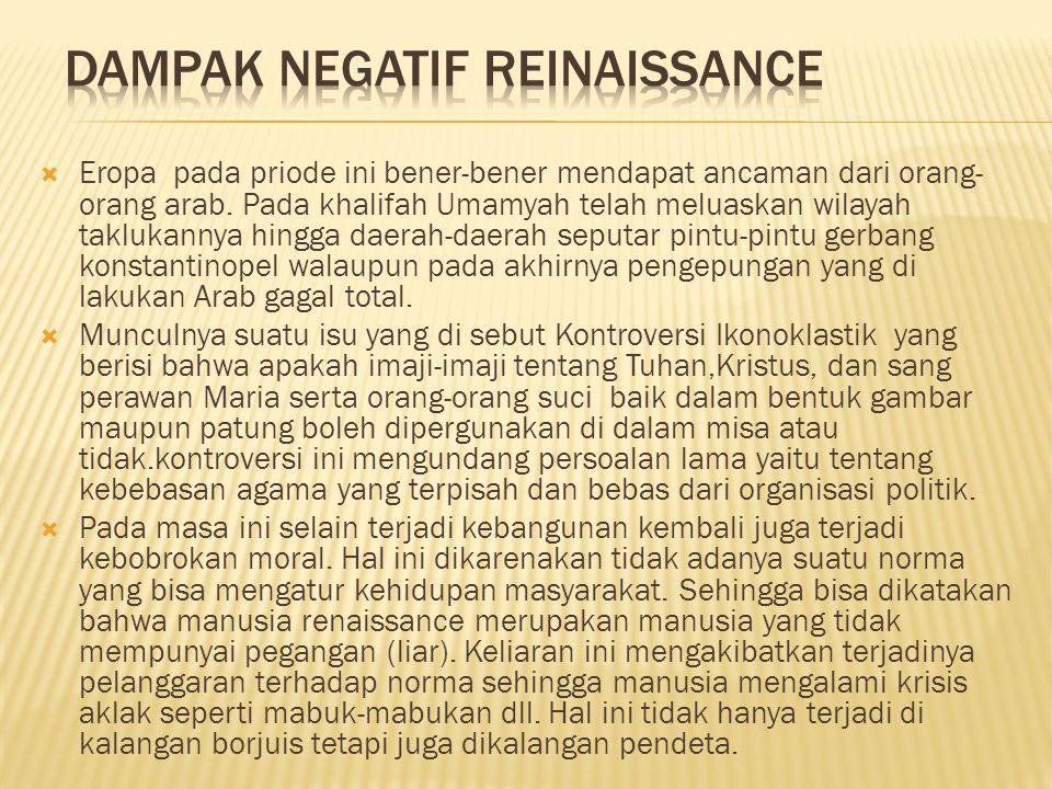 Dampak Negatif Reinaissance