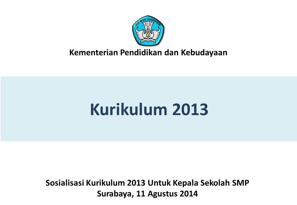 Sosialisasi Kurikulum 2013 Untuk Kepala Sekolah SMP