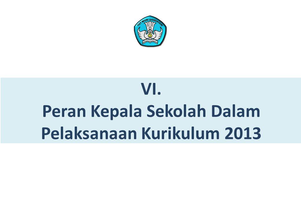 Peran Kepala Sekolah Dalam Pelaksanaan Kurikulum 2013