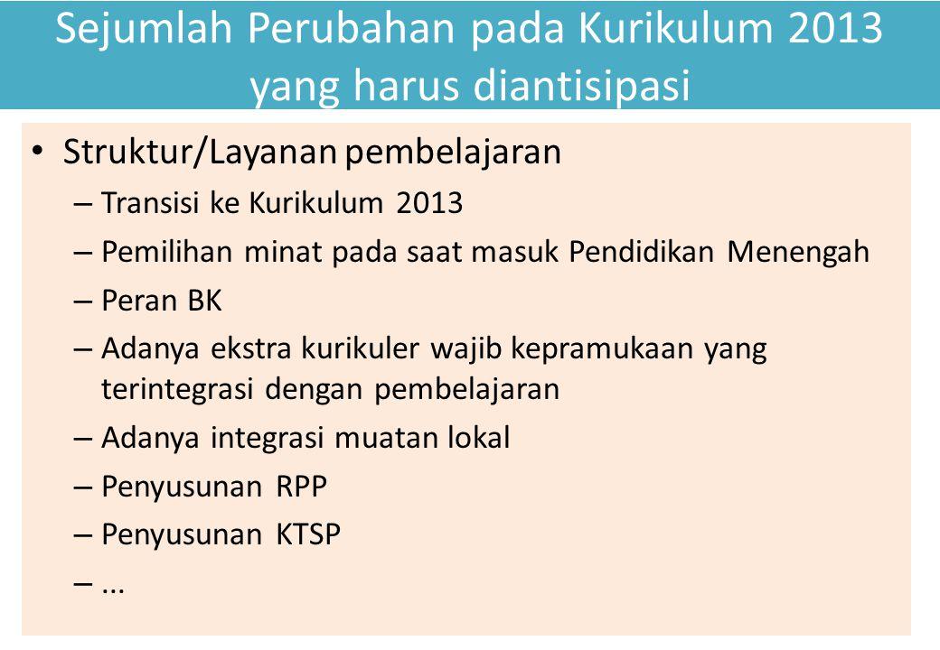 Sejumlah Perubahan pada Kurikulum 2013 yang harus diantisipasi