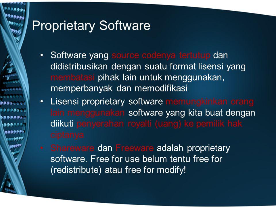 Proprietary Software