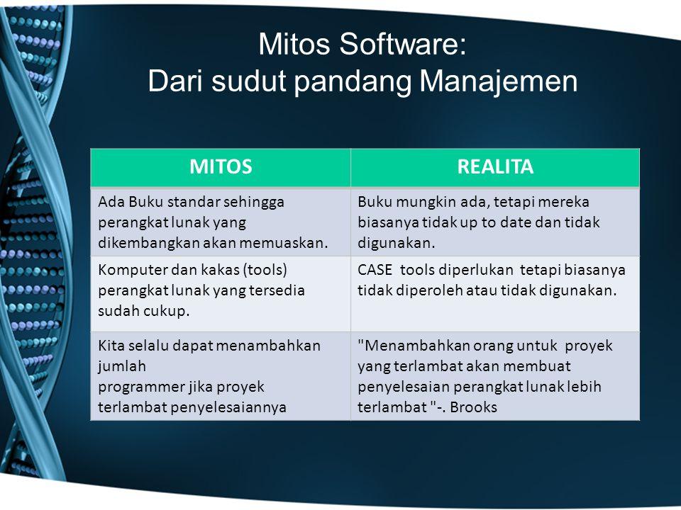 Mitos Software: Dari sudut pandang Manajemen