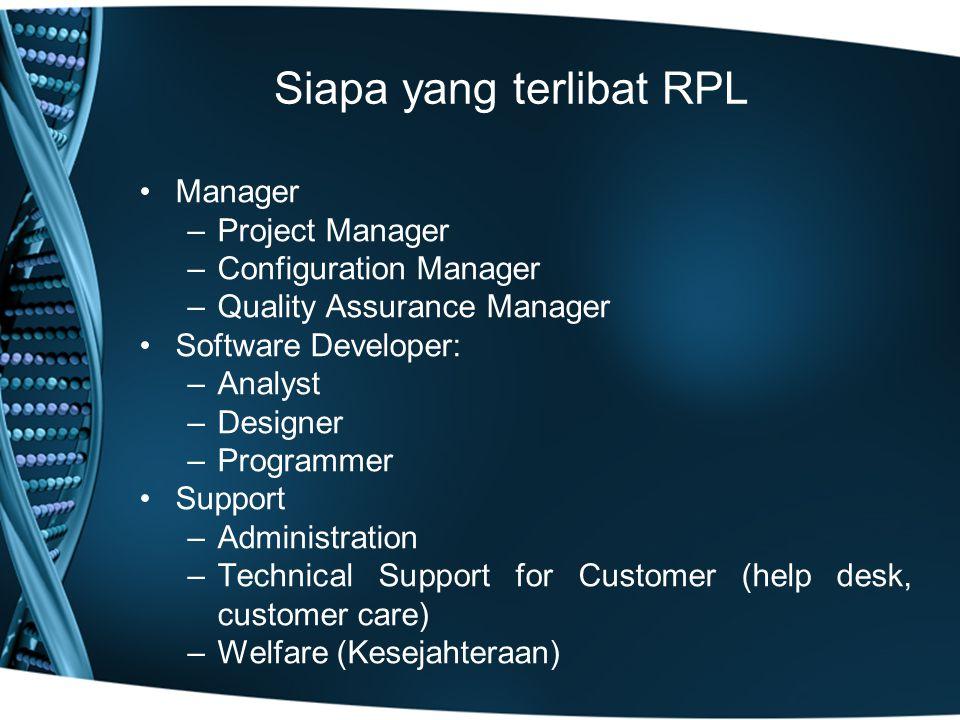 Siapa yang terlibat RPL