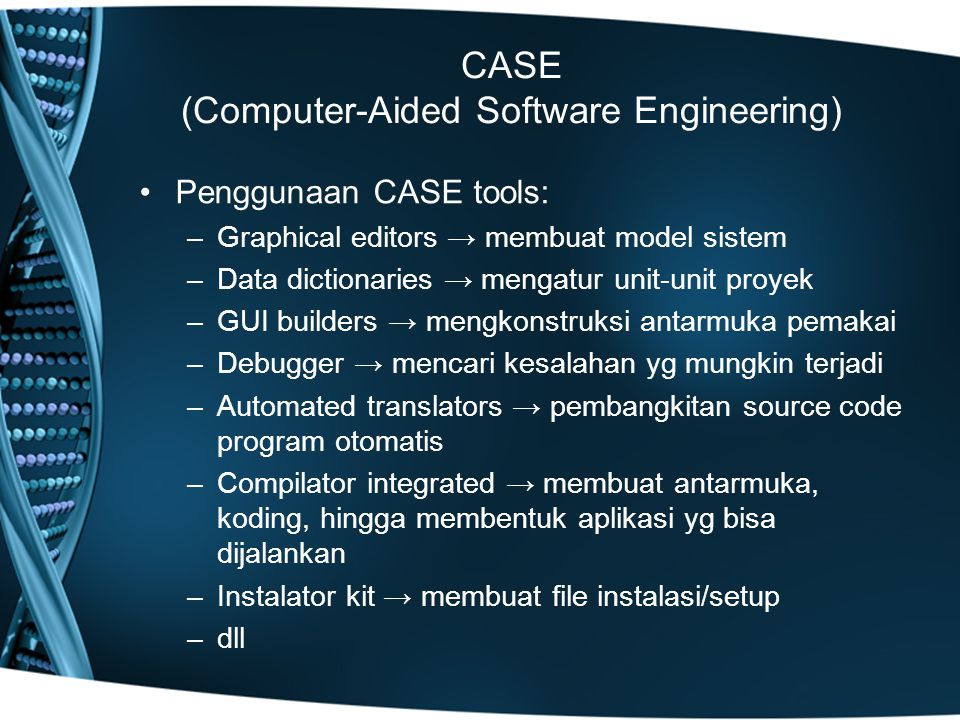 CASE (Computer-Aided Software Engineering)