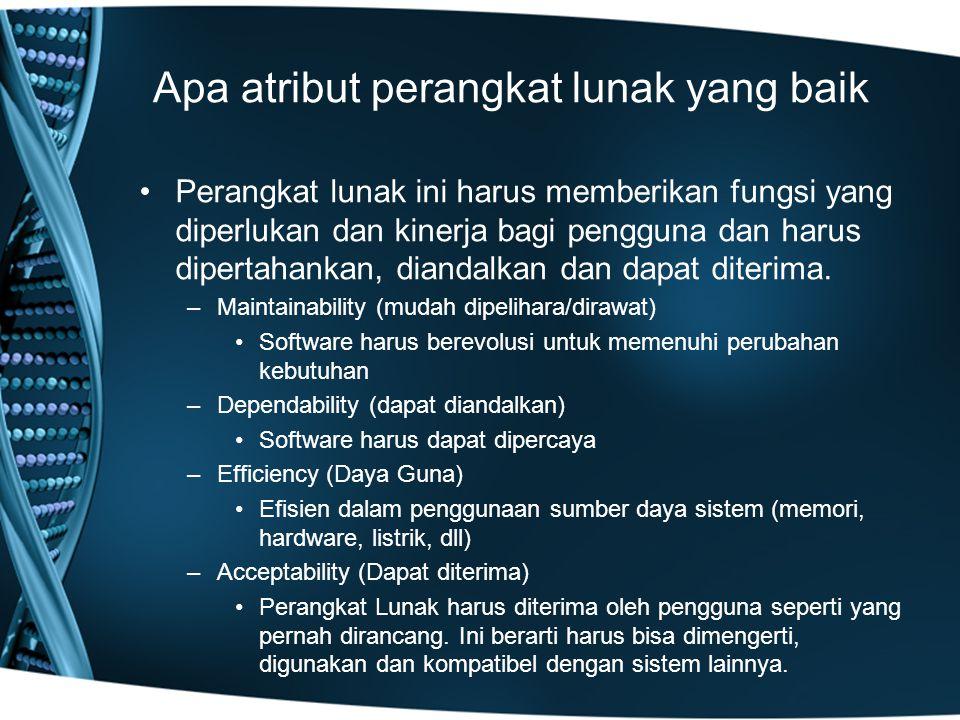 Apa atribut perangkat lunak yang baik