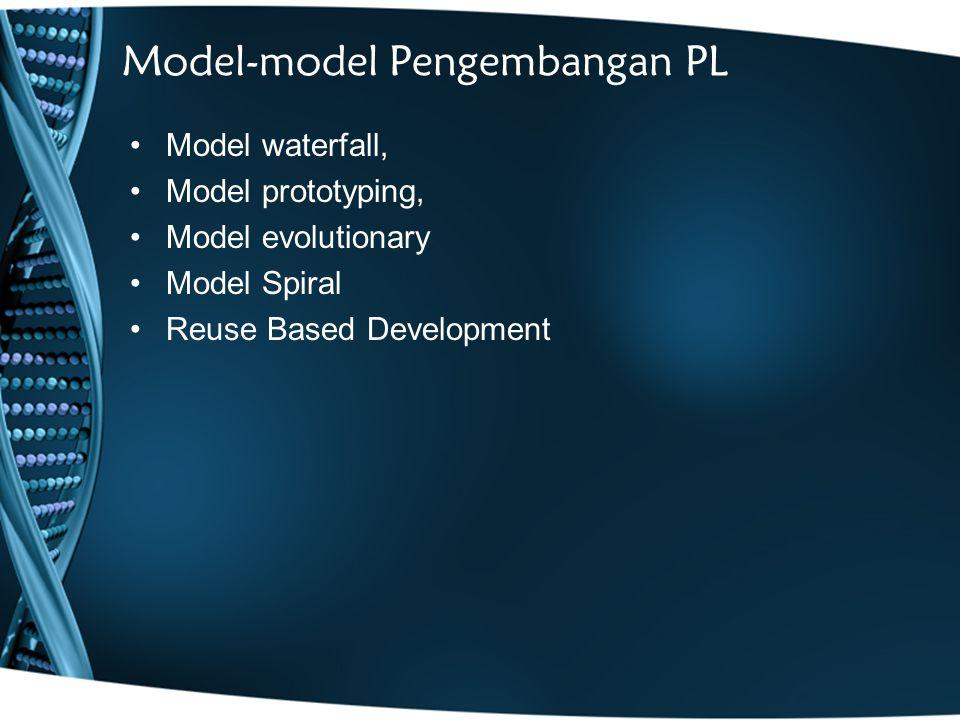 Model-model Pengembangan PL