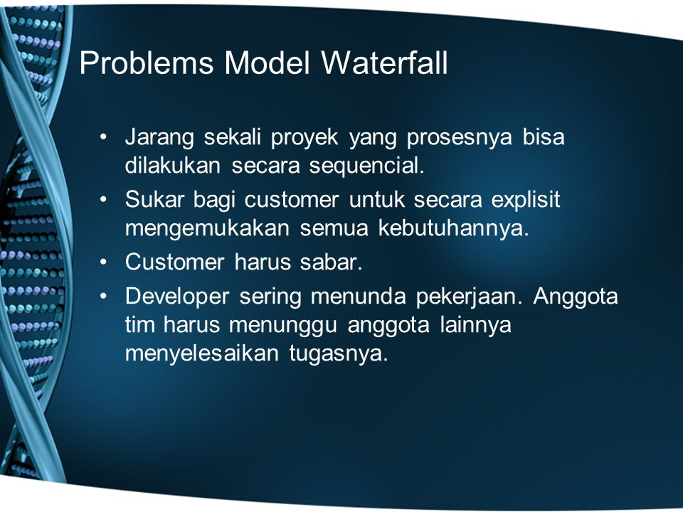 Problems Model Waterfall