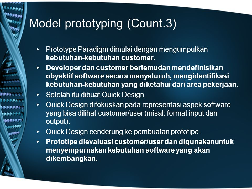 Model prototyping (Count.3)