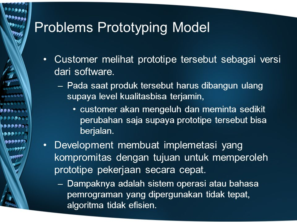 Problems Prototyping Model