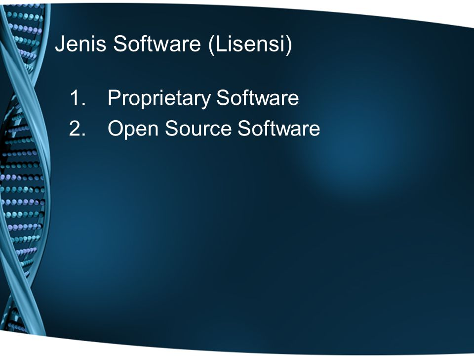 Jenis Software (Lisensi)