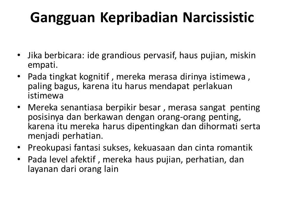 Gangguan Kepribadian Narcissistic