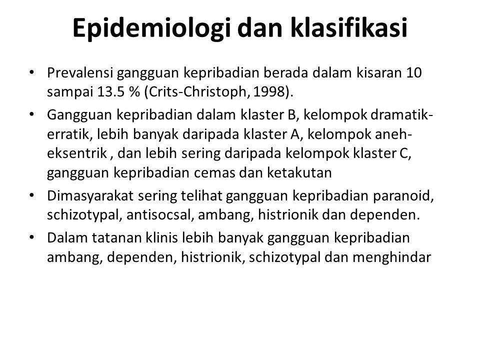 Epidemiologi dan klasifikasi