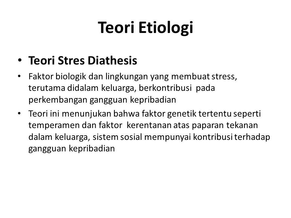 Teori Etiologi Teori Stres Diathesis