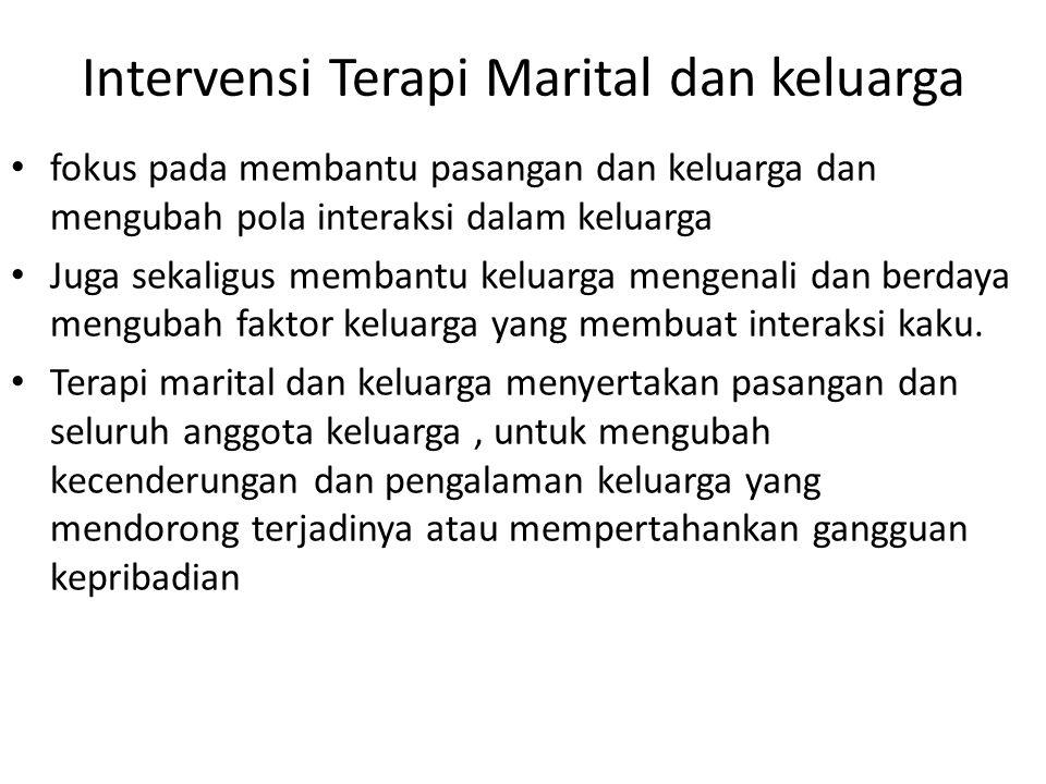 Intervensi Terapi Marital dan keluarga