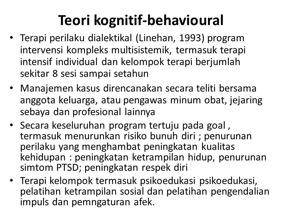 Teori kognitif-behavioural