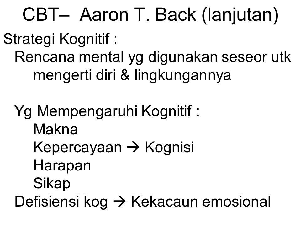 CBT– Aaron T. Back (lanjutan)