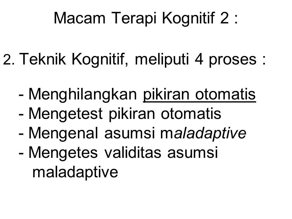 Macam Terapi Kognitif 2 :