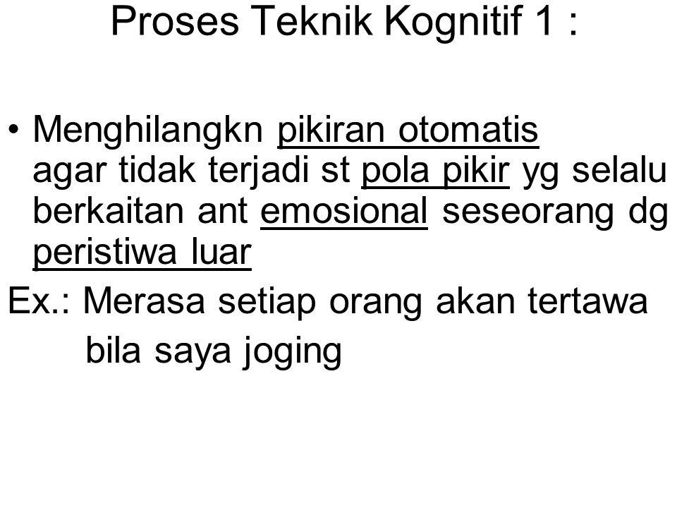 Proses Teknik Kognitif 1 :