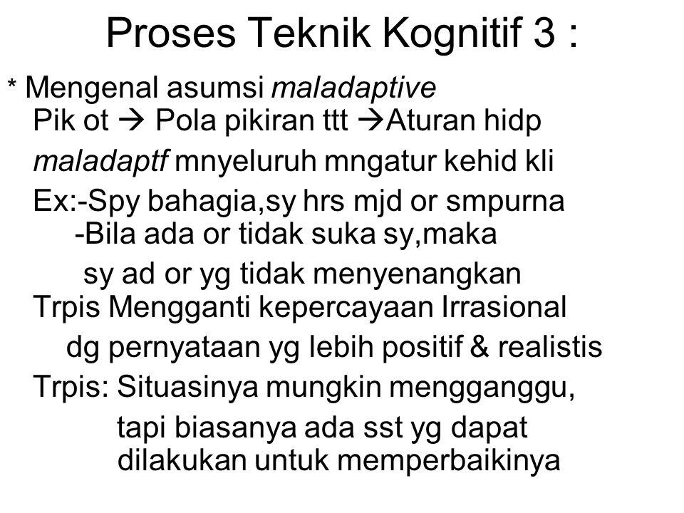Proses Teknik Kognitif 3 :
