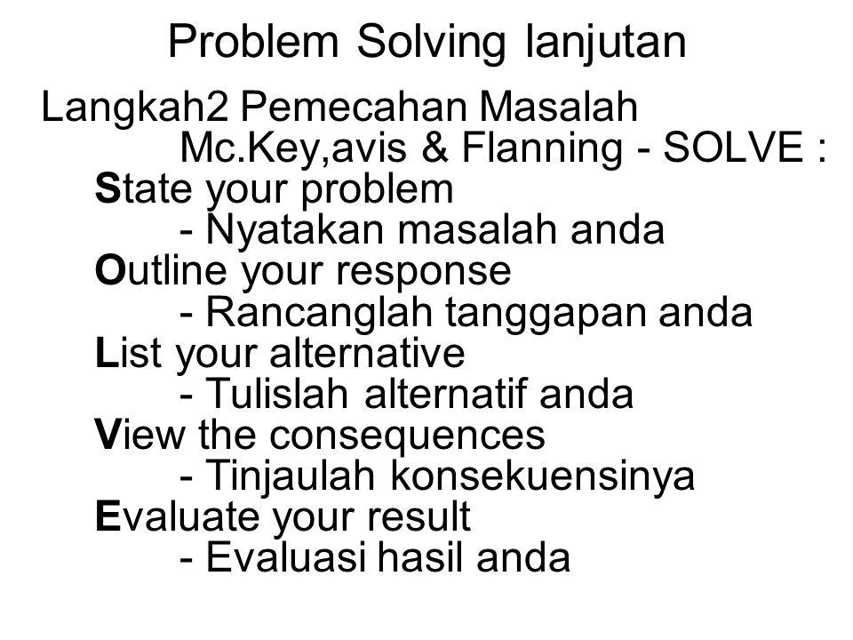 Problem Solving lanjutan