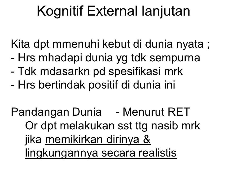 Kognitif External lanjutan