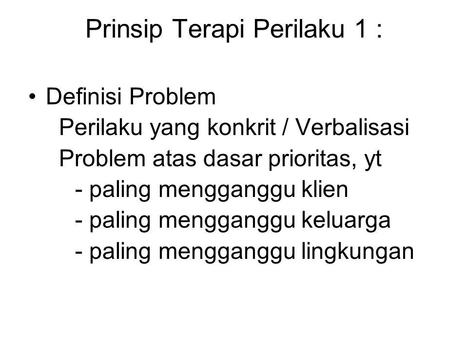Prinsip Terapi Perilaku 1 :