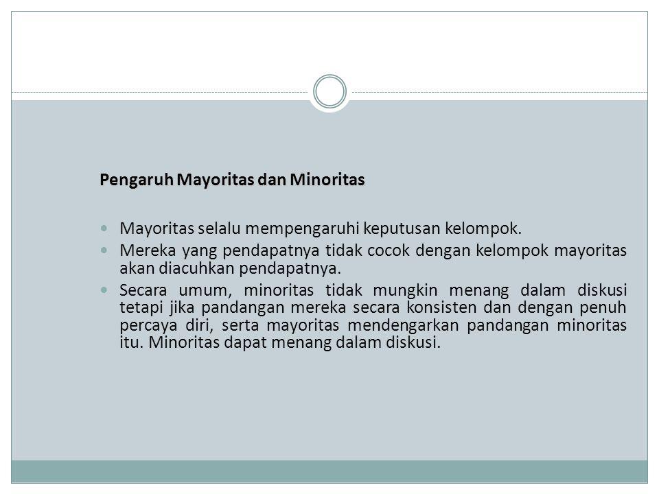 Pengaruh Mayoritas dan Minoritas