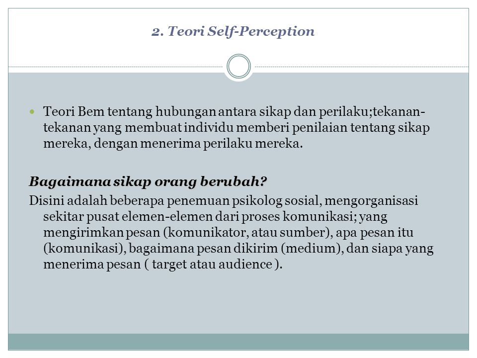 2. Teori Self-Perception