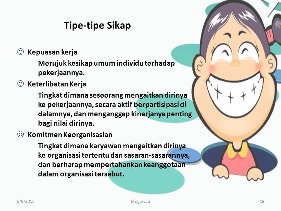Tipe-tipe Sikap Kepuasan kerja