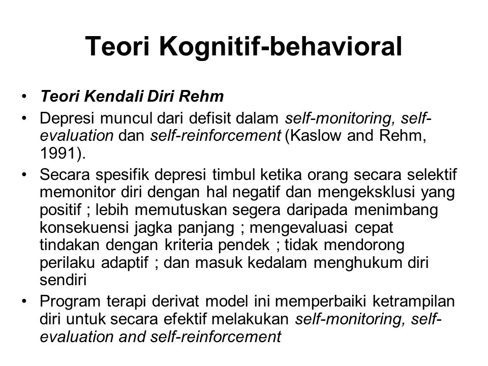 Teori Kognitif-behavioral