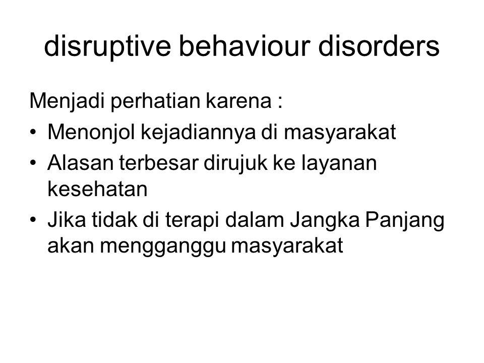 disruptive behaviour disorders