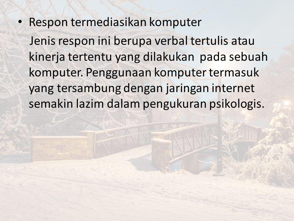 Respon termediasikan komputer