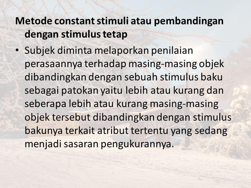 Metode constant stimuli atau pembandingan dengan stimulus tetap