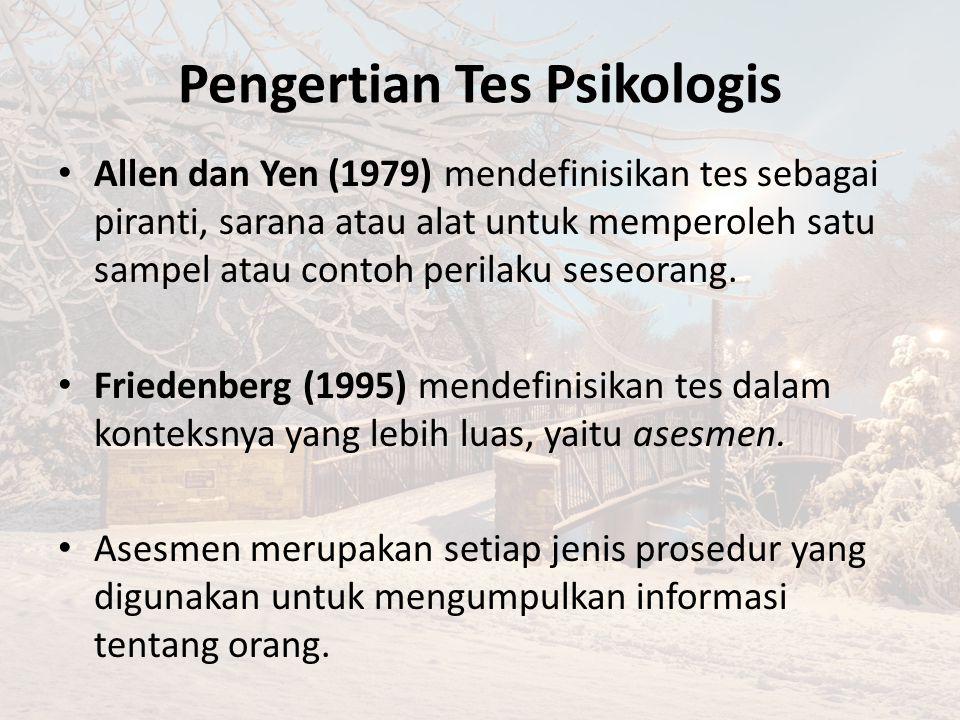 Pengertian Tes Psikologis